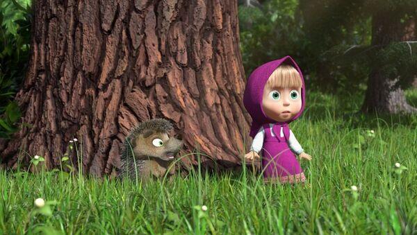 Kadr z filmu animowanego Masza i Niedźwiedź - Sputnik Polska