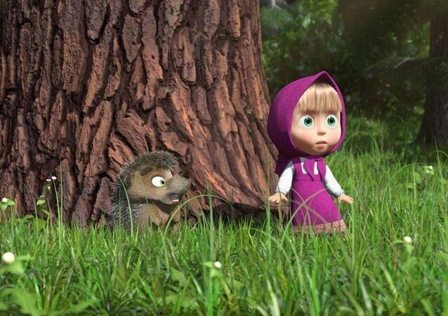 Kadr z filmu animowanego Masza i Niedźwiedź