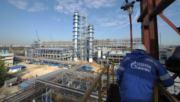 Rafineria koncernu Gazprom Nieft w Moskwie - Sputnik Polska