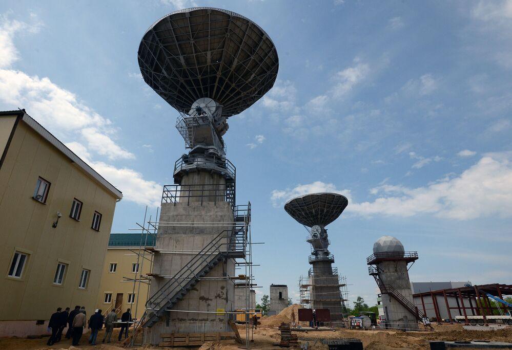 Antena na kosmodromie Wostocznyj w obwodzie amurskim.