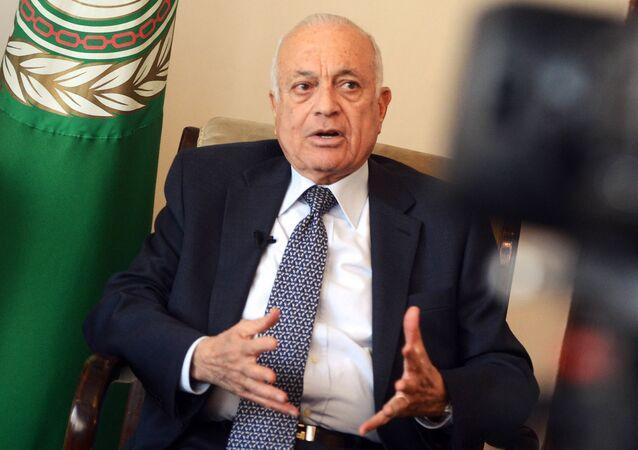 Sekretarz generalny Ligi Państw Arabskich Nabil Elaraby