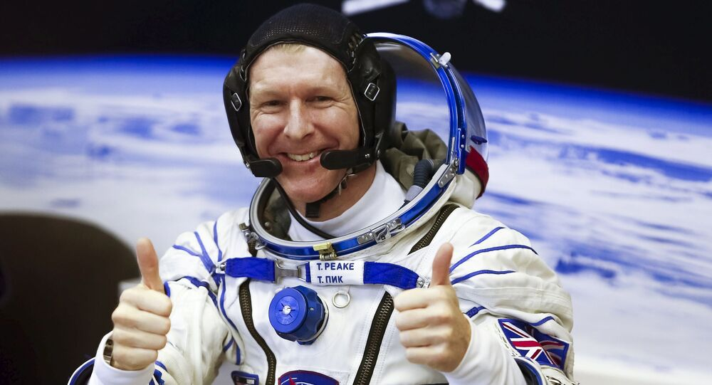 Astronauta Tim Peake na kosmodromie Bajkonur