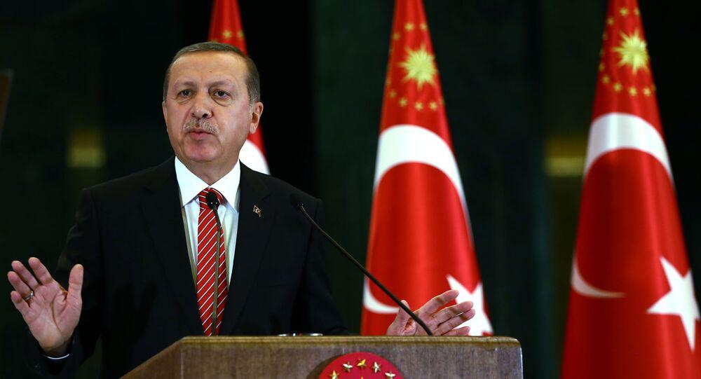 Prezydent Turcji Tayyip Recep Erdogan