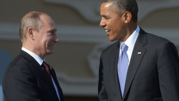 Prezydent Rosji Władimir Putin i Prezydent USA Barack Obama - Sputnik Polska