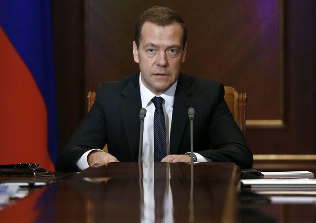 Przewodniczący rosyjskiego rządu Dmitrij Miedwiediew