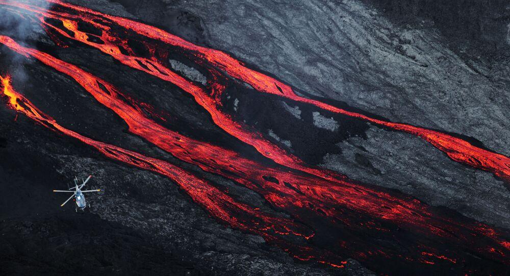 Erupcja wulkanu na oceanie Indyjskim