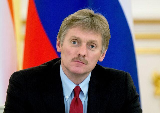 Rzecznik prasowy prezydenta Rosji Dmitrij Pieskow na Kremlu