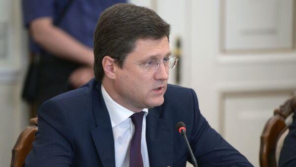Minister energetyki Rosji Aleksander Nowak na naradzie rosyjskiego rządu - Sputnik Polska