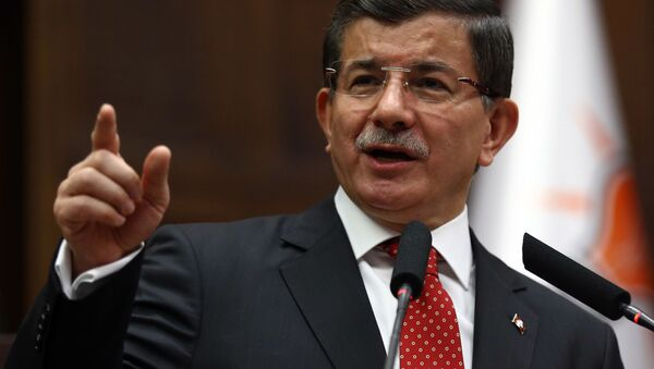 Szef tureckiego rządu Ahmet Davutoğlu - Sputnik Polska