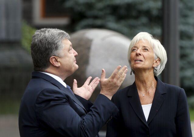 Petro Poroszenko i Christine Lagarde