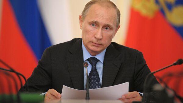 Prezydent Rosji Władimir Putin odbywa naradę z członkami rosyjskiego rządu w rezydencji Nowo-Ogariowo - Sputnik Polska