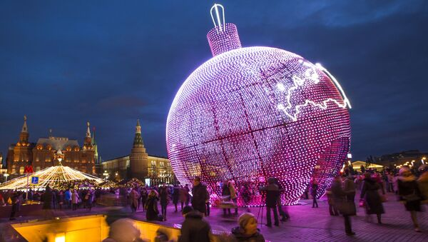17-metrowa bombka na Placu Maneżowym w Moskwie - Sputnik Polska