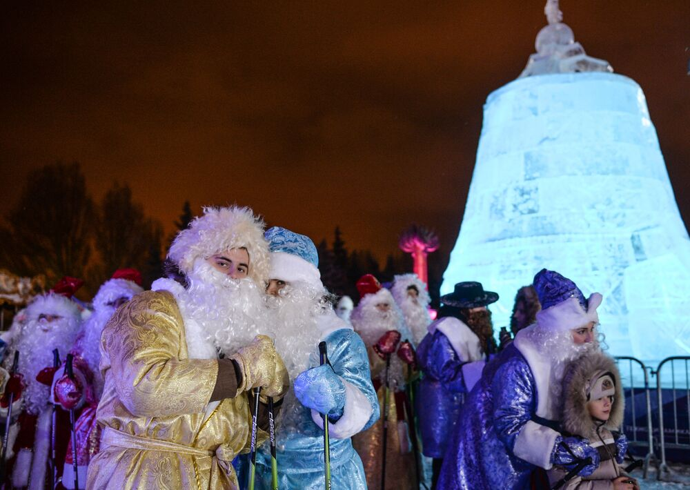 Uczestnicy festiwalu Lodowa Moskwa. W gronie rodziny