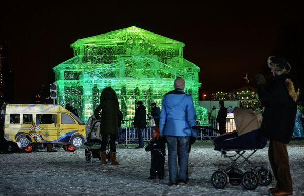 Teatr Wielki z lodu na festiwalu w Moskwie - Sputnik Polska
