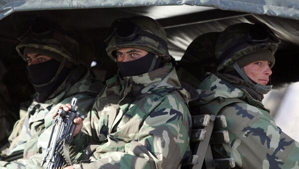 Tureccy żołnierze na granicy turecko-irackiej - Sputnik Polska