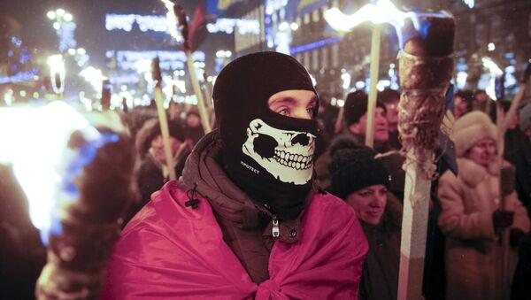 Tysiące zwolenników Stepana Bandery uczciło jego pamięć w Kijowie - Sputnik Polska