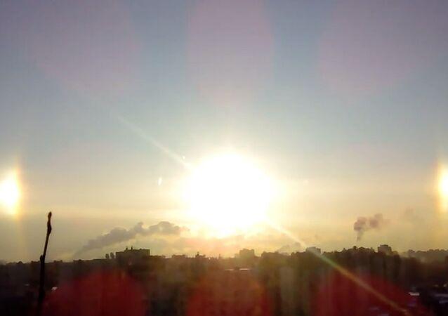 Potrójne słońce nad Petersburgiem