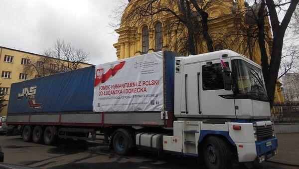 Polska pomoc humanitarna dla Donbasu, zebrana przez Bractwo Prawosławne św. św. Cyryla i Metodego - Sputnik Polska