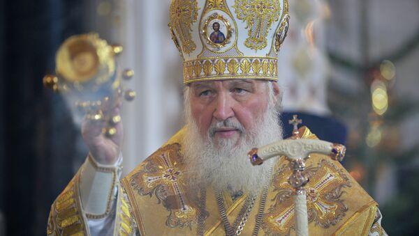 Patriarcha Cyryl na mszy bożonarodzeniowej - Sputnik Polska