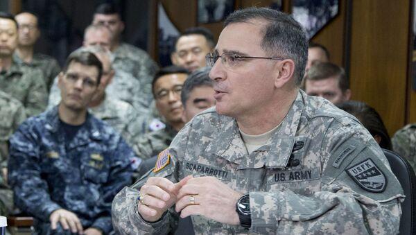 Dowódca amerykańskich wojsk w Korei Południowej generał Curtis Scaparrotti - Sputnik Polska