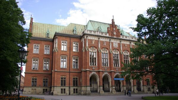 Budynek Collegium Novum Uniwersytetu Jagiellońskiego w Krakowie - Sputnik Polska
