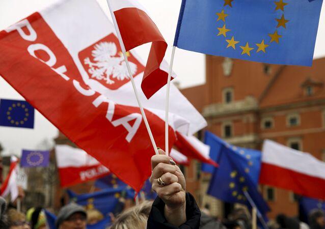 Uczestnicy protestów w Warszawie