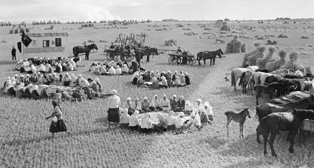 Obiad na obozie polowym