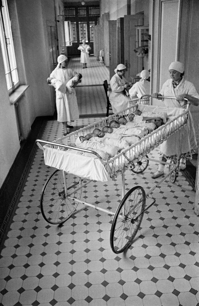 Dzieci w jednym ze szpitali w Moskwie