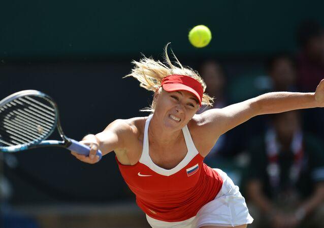 Rosyjska tenisistka Maria Szarapowa na XXX Letnich Igrzyskach Olimpijskich w Londynie