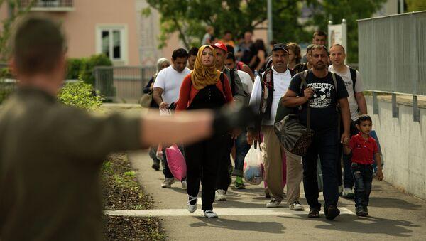 Migranci na granicy Austrii i Słowenii - Sputnik Polska