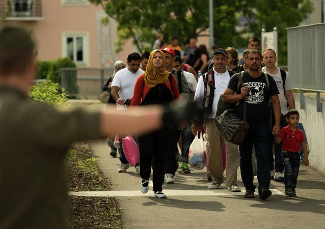 Migranci na granicy Austrii i Słowenii