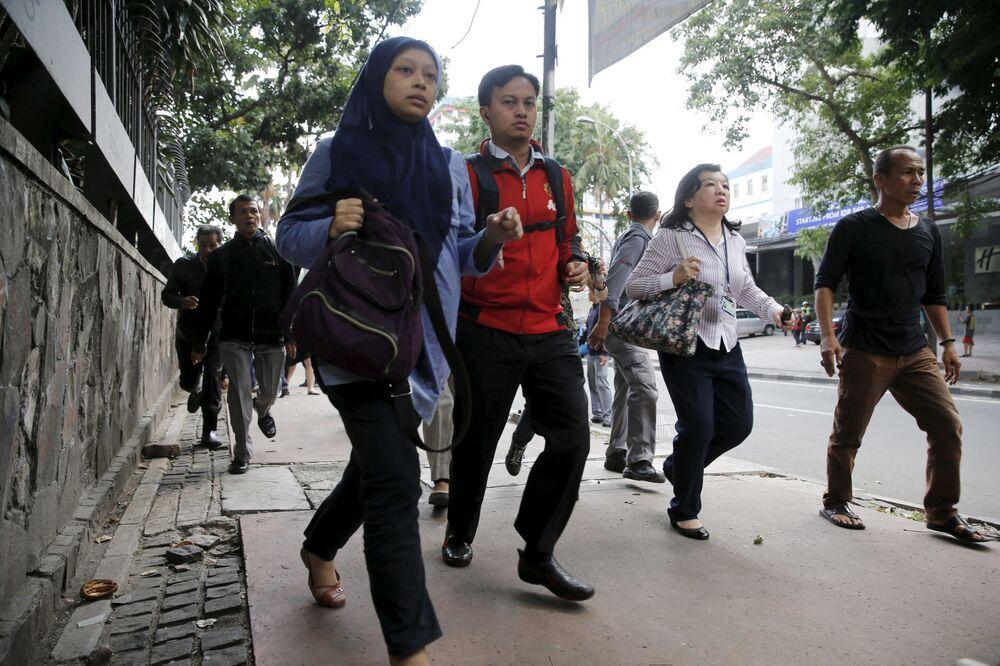 Ewakuacja mieszkańców w Dżakarcie