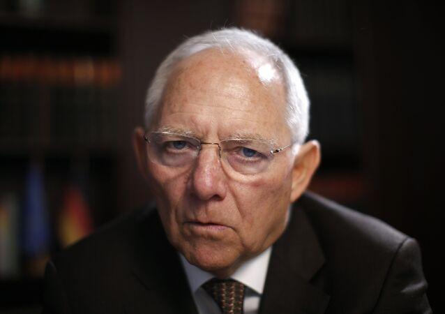 Niemiecki minister finansów Wolfgang Schäuble