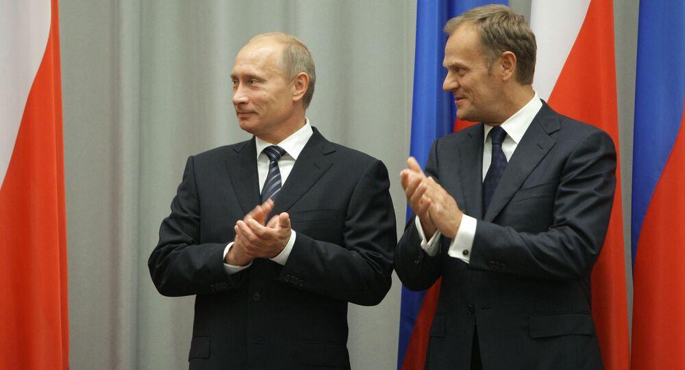 Władimir Putin i Donald Tusk, 1 września 2009 roku. Władimir Putin podczas wizyty roboczej w Polsce.