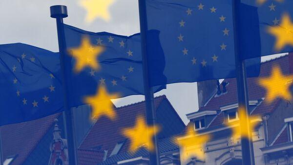 Flagi UE w Brukseli - Sputnik Polska