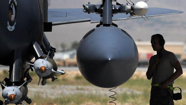 Samolot F-15E Sił Powietrznych USA w Afganistanie - Sputnik Polska