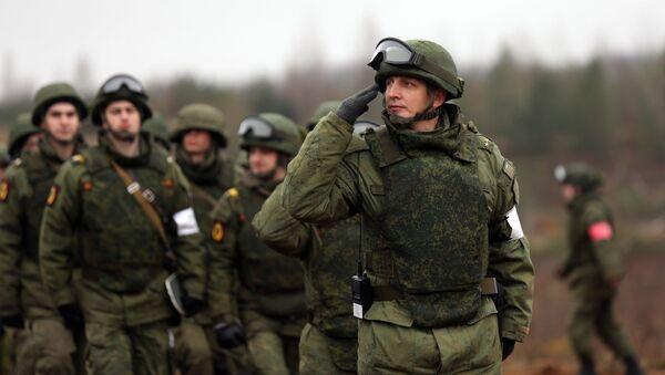 Rosyjscy żołnierze podczas ćwiczeń - Sputnik Polska