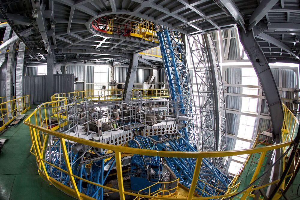 Korpus montażowo-doświadczalny w kompleksie technicznym na kosmodromie Wostocznyj