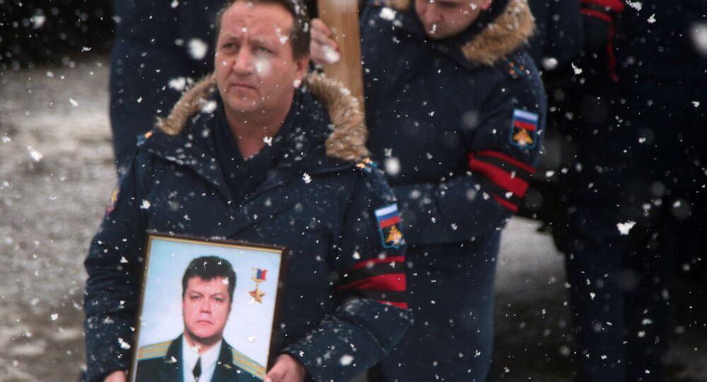 Pożegnanie pilota Su-24 Olega Pieszkowa w Lipiecku
