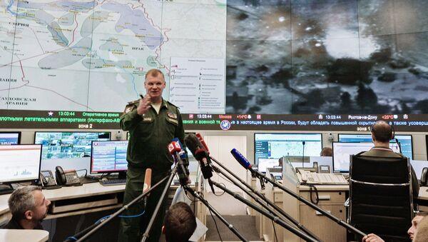 Briefing rzecznika Ministerstwa Obrony Rosji Igora Konaszenkowa - Sputnik Polska