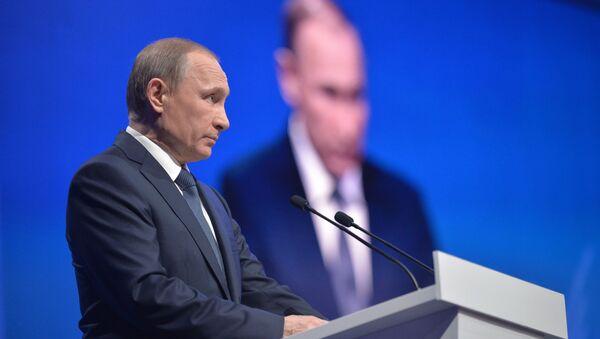 Prezydent Rosji Władimir Putin w Stawropolu - Sputnik Polska