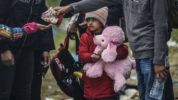 Obóz dla uchodźców na grecko-macedońskiej granicy - Sputnik Polska