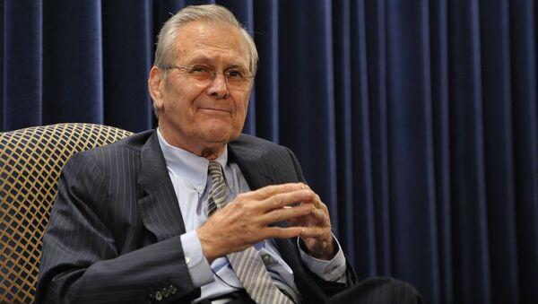 Były sekretarz obrony Stanów Zjednoczonych Donald Rumsfeld - Sputnik Polska