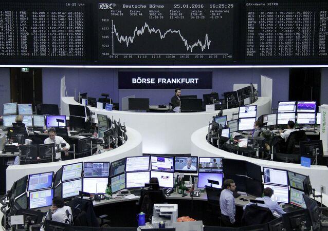 Giełda we Frankfurcie w Niemczech