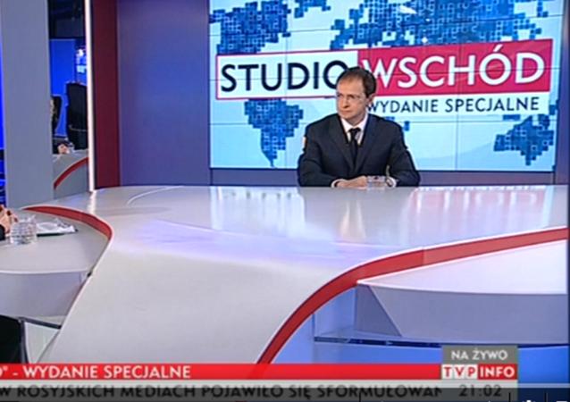 Władimir Medinski w programie Studio Wschód / Wydanie specjalne, 27.01.2016 / TVP INFO