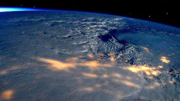 Widok z kosmosu na huragan w USA - Sputnik Polska