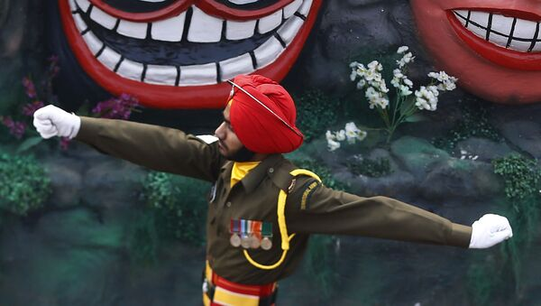 Żołnierzy armii indyjskiej podczas parady w New Delhi, Indie - Sputnik Polska
