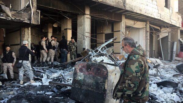 Po atakach terrorystycznych w Damaszku - Sputnik Polska
