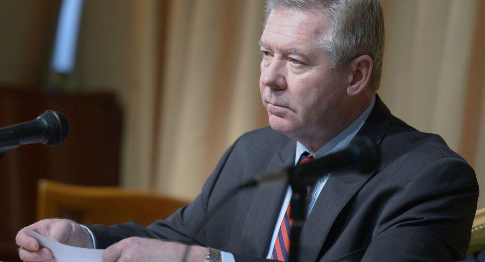 Wiceminister spraw zagranicznych Rosji Giennadij Gatiłow w Moskwie