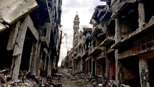 Zniszczenia w mieście Homs w Syrii - Sputnik Polska
